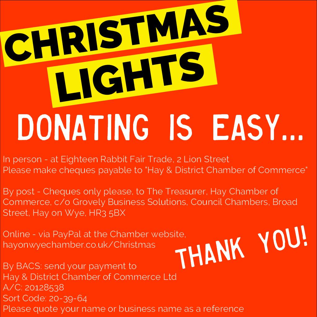 christmas lights donations